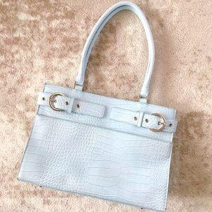 Sondra Roberts Purse Light Blue Work Career Bag